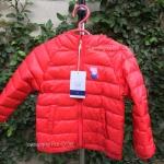 พร้อมส่ง เสื้อขนเป็ดเด็ก Peppa Pig สีแดง size: 90-140