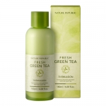 Preorder Nature republic Fresh Green Tea 70 Emulsion 180ml 9900won อีมัลชั่นสกัดจากชาเขียวสดถึง 70% มีคุณสมบัตช่วยให้ผิวที่เป็นผื่นแพ้ง่าย บรรเทาอาการผื่นแดง