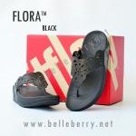 **พร้อมส่ง** รองเท้า FitFlop FLORA : Black : Size US 8 / EU 39