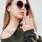 ASOS Hexagon Sunglasses In Rose Gold