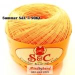 ด้ายถัก Summer S&C สีพื้น รหัส 5061