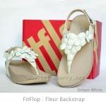 **พร้อมส่ง** FitFlop Fleur Backstrap : Urban White : Size US 7 / EU 38