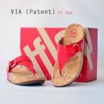 **พร้อมส่ง** รองเท้า FitFlop VIA (Patent) : FF Red : Size US 6 / EU 37