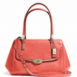 COACH MADISON SMALL MADELINE EAST/WEST SATCHEL IN LEATHER # 25169 สี LI/VERMILLION