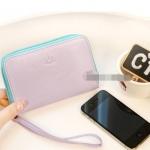 กระเป๋าใส่ iPhone แบบซิปรอบ ใบใหญ่ -สีม่วง
