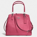 Coach leather minetta crossbody # 34663 สี SV/Sunset Red