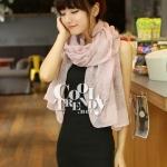 ผ้าพันคอวินเทจ ลาย Porcelian : ผ้าพันคอ Viscose 160 x 80 cm สี Pastel pink