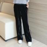 กางเกงกำมะหยี่สีดำขายาวไซส์ใหญ่ (XL,2XL,3XL,4XL)