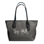COACH EMBOSSED HORSE AND CARRIAGE TAXI ZIP TOP TOTE BAG # 35337M