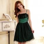 ♥พร้อมส่ง♥ ชุดราตรีผ้าซาติน สีเขียว 3XL อก 42 ยืด 48 นิ้ว