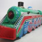 รถไฟสังกะสี สีเขียว