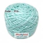 ไหมเบบี้ซิลค์ (ฺBaby Silk) รหัสสี 016 สีเขียวนวล (เขียวโซดา)