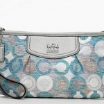 COACH Madison Graphic Signature Large Wristlet # 47645