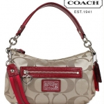 COACH DAISY SIGNATURE CROSSBODY # 20044 Khaki Red