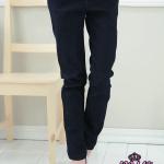 ♥พร้อมส่ง♥ กางเกงยีนส์ยืดทรงดินสอ สีดำ ไซส์ 2XL