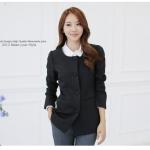 ++พร้อมส่ง++ เสื้อสูทสไตล์เกาหลี สีดำ ไซส์ 3XL (JK~9520)