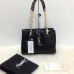 กระเป๋า YSL มาใหม่งานสวย แบบอั้ม-พัชราภาใช้ ขนาด 10 นิ้ว ราคา 900 บาท สีดำ