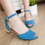 ♥พร้อมส่ง♥ รองเท้าแฟชั่นไซส์ใหญ่ สีฟ้าเข้ม เบอร์ 43