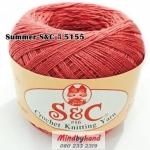 ด้ายถัก Summer S&C สีพื้น รหัส 5155