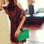 กระเป๋าแฟชั่นMaoMao กระเป๋าสะพายทรงน่ารัก -สีเขียว
