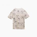Pre Order / Friends Kids T facial pattern beige lines