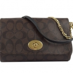 Coach Signature Mini Ruby Crossbody # 34615 สี BROWN/BLACK
