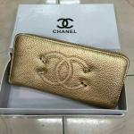 กระเป๋าสตางค์ Chanel มาใหม่แต่งโลโก้สวย ขนาด 4.5x7 นิ้ว ราคา 400 บาท สีทอง