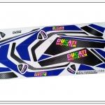 สติ๊กเกอร์ MSX-DUCATI ติดรถสีขาว (สีสะท้อนแสง)