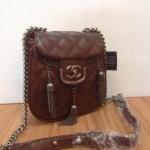 กระเป๋า Chanel coco sporran แบบดาราใช้  Size 8 x สูง 6 x กว้าง 3 นิ้ว สีน้ำตาล