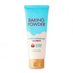 *พร้อมส่ง* Etude Baking Powder B.B Deep Cleansing Foam 160ml 베이킹 파우더 B.B딥 클렌징폼 8000won โฟมล้างหน้าที่มาพร้อมการผสมเม็ดบีดส์ขนาดเล็กไม่บาดผิวหน้าไม่ทำให้เกิดอาการระคายเคืองแต่จะช่วยขัดสิ่งสกปรกที่อุดตันอยู่ตามรูขุมขนให้หลุดออกไปได้หมดและเพื่อช่วยนวดผิวหน้า