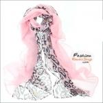 ผ้าพันคอลายขนนก Feather : สีชมพูอ่อน CK0344