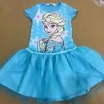 """size8-9""""พร้อมส่ง""""เสื้อผ้าเด็กราคาถูก เดรสH&M ลายเอลซ่า สีฟ้า-size 8-9"""