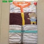 """size6M """"พร้อมส่ง""""เสื้อผ้าเด็กนำเข้าราคาถูก ชุดหมี Brand Next คลุมเท้า แพ๊ค 3 ตัว คละลาย -ไซส์ 6 เดือน"""
