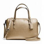 COACH BENNEETT LEATHER MINI SATCHEL CROSSBODY # 50430 สี SILVER/GOLD