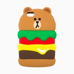 Pre Order / Burger Brown iPhone 6 / 6s Plus Silicone Case