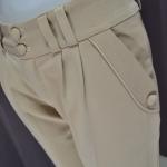 กางเกงทำงานผู้หญิง ขายาว เอวสูง