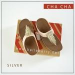 FitFlop : CHA CHA : Silver : Size US 7 / EU 38