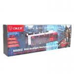 "USB Multi Keyboard ""OKER"" (K84) (Blue Switch Mechanical Gaming Keyboard)"