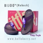 **พร้อมส่ง** FitFlop Bijoo ( Nubuck ) : Pomp Purple : Size US 5 / EU 36