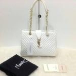 กระเป๋า YSL มาใหม่งานสวย แบบอั้ม-พัชราภาใช้ ขนาด 10 นิ้ว ราคา 900 บาท สีขาว