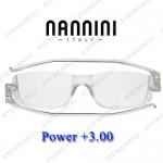 แว่นอ่านหนังสือ Nannini ทรงใหญ่ เบอร์ +300