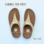 **พร้อมส่ง** FitFlop : CARMEL Toe-Post : Rose Gold : Size US 5 / EU 36