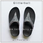 * NEW * FitFlop : GLITTERBALL : Pewter : Size US 7 / EU 38