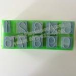 TY-1113 ตรายาง ตัวเลขอารบิค 0-9 จุดประ ขนาด 2 บรรทัด