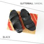 * NEW * FitFlop : GLITTERBALL Sandal : Black : Size US 7 / EU 38