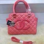 กระเป๋า Chanel มาใหม่ งานสวย หนังเนี๊ยบ ขนาด 10 นิ้ว พร้อมสายสะพายยาว สีชมพู