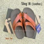 **พร้อมส่ง** FitFlop Sling M (Leather) : Dark Tan : Size US 11 / EU 44