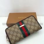 กระเป๋าสตางค์ Gucci มาใหม่ ซิปเดียว ขนาด 4 x 7.5 นิ้ว สีน้ำตาล-เขียว