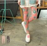♡♡Pre Order♡♡ กางเกงเลกกิ้งขายาว ผ้าคอตตอนเนื้อนิ่มลายดอกไม้สวยๆ สวมใส่สบาย สวยน่ารักแนววินเทจมากๆ ค่ะ