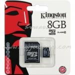 "Micro SD Card 8GB ""Kingston"" (SDC10, Class 10)"